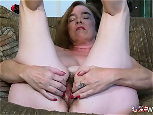 USAwives wooly grannie Pusssy torn up With hookup plaything
