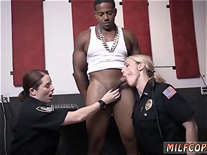 antique cougar young first-ever time wet flick grasps cop romping a deadbeat parent.