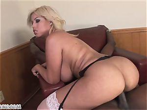 Bridgette B - My new Latina secretary in stocking