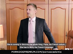 porn ACADEMIE Lana Rhoades loves plowing French boner