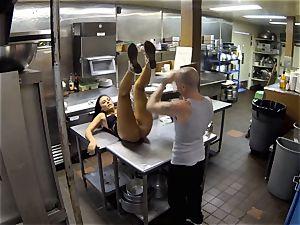 Gianna Nicole plowed in restaurant kitchen