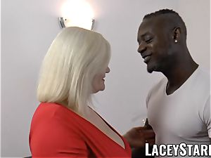 LACEYSTARR - grandma anally creampied with big black cock