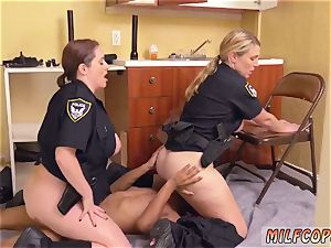 well-lubed up bi-racial black male squatting in home gets our mummy officers squatting on