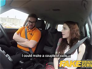 faux Driving college USA honey Anna De Ville