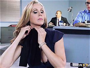 wondrous boss Julia Ann gets a double creaming