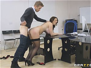 big-titted assistant Tasha Holz gets a ginormous rod at work
