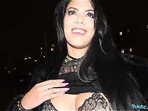 Pretty encountered latina does bj in public and gets titfucked