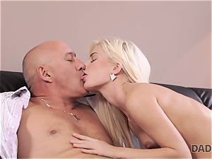 DADDY4K. elderly man willingly sates nubile s appetite for appetizing semen