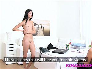 FemaleAgent Agent smashes super-steamy stroking model