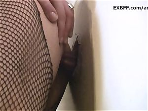 Sabrina Deep gloryhole yam-sized load dirty facial cumshot
