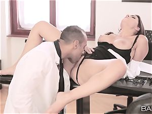 Valentina Nappi disrobes off and smashes her boss