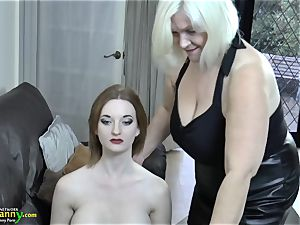 OldNanny mature Lacey starlet bought new intercourse doll