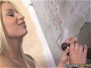 Alyssa Branch bi-racial oral pleasure - Gloryhole