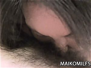 Mariko Hashimoto - busty Jav cougar hairy cunny jizz filled