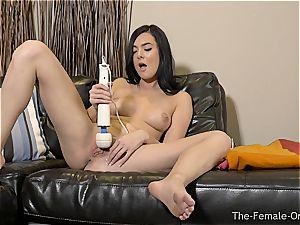Coeds vibrator masturbation to numerous ejaculations