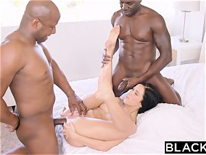 BLACKED warm Megan Rain Gets DP'd By Her Sugar father and His pal
