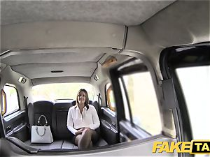 faux taxi office damsel in pantyhose tossing salad anal invasion fucky-fucky
