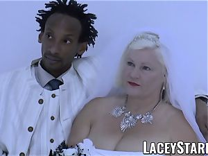LACEYSTARR - grannie bride fed with jism after poking