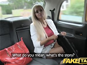 fake taxi bony light-haired with puny backside gets ass fucking lovemaking