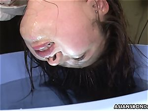 Her slick and wet snatch getting toyed waxed and romped