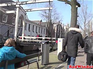 Amsterdam hooker deep throats customer