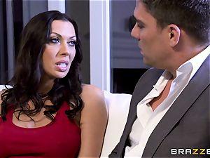Rachel Starr porking her hubbies super hot suited manager