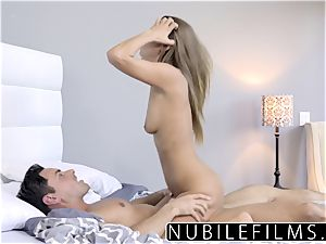 NubileFilms - cock-squeezing Coed pokes And guzzles