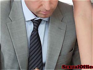 Vanessa the naughty secretary porked on her desk