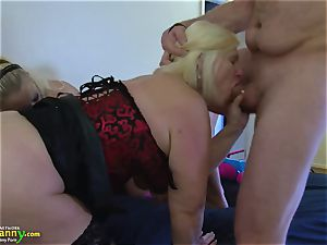OldNannY Mature ladies loving gonzo group bang-out