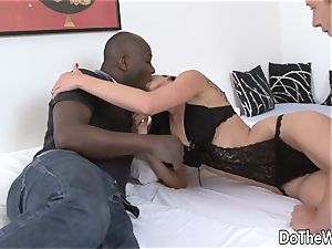 black guy pulverizes wife in Front of Wimpy cuckold