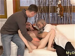 Hindi aged sex and first-ever time hard-core unexpected practice with an aged gent