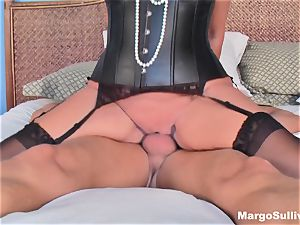 Mature Margo rails man-meat in a nub necklace