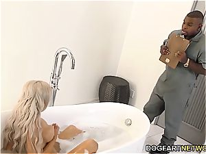 cheating boyfriend watches Nina Elle gets porked by big black cock