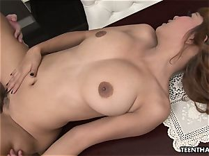 japanese lass getting pounded all over the place