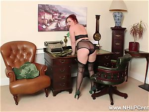 red-haired is antique nylon fetish super-bitch at masturbate Off Club