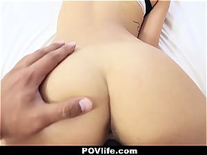 stunning Latina Gina Valentina point of view poking