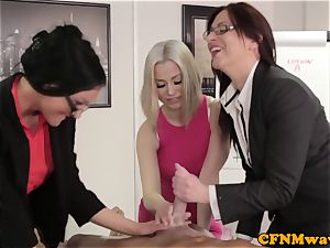Office female dominance affair with Chantelle Fox