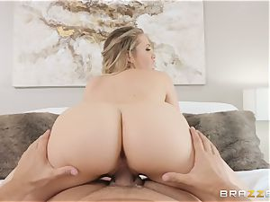 Mia Malkova railing on a pulsating beef whistle