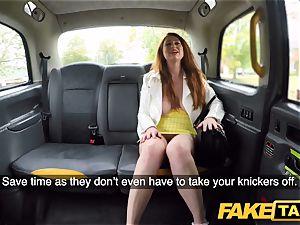 fake taxi horny redhead cutie in sloppy poke