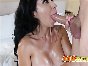Kim gets her bumpers pawed as her lover slams her punani