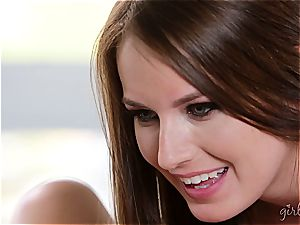 Eva Lovia gives Scarlett Sage an oral exam