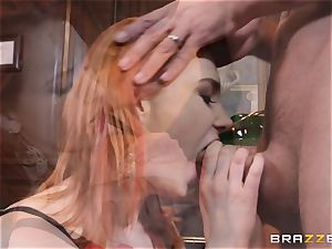ginger-haired secretary Siri gets her playmates immense man meat