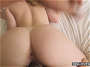 super-fucking-hot Jayden provokes her stepbro with her delicious arse