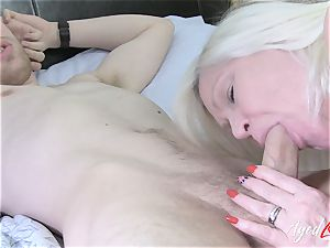 AgedLovE chesty Lacey Starr gonzo and fellatio