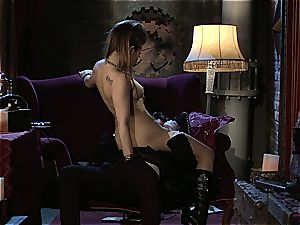 Dani Daniels implementing cogs and fuck-sticks in her steampung desire