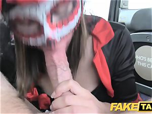 fake cab chick in mask gets drilled in the backside