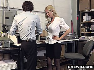 SheWillCheat - big-boobed milf manager penetrates new employee