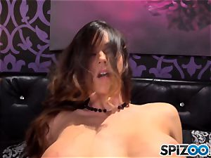 Spizoo-Watch Alison Tyler poking a yam-sized prick fat funbags