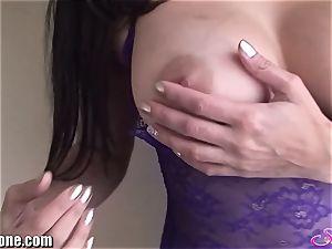 SunnyLeone Sunny Leone in stellar purple lingerie