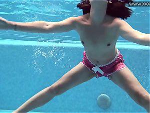 steamy tattooed Czech killer in the pool